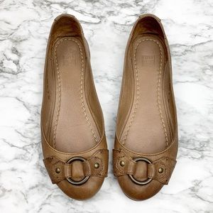 Frye Carson Harness leather flats